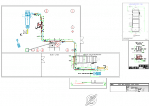 Vodka bottling line layout