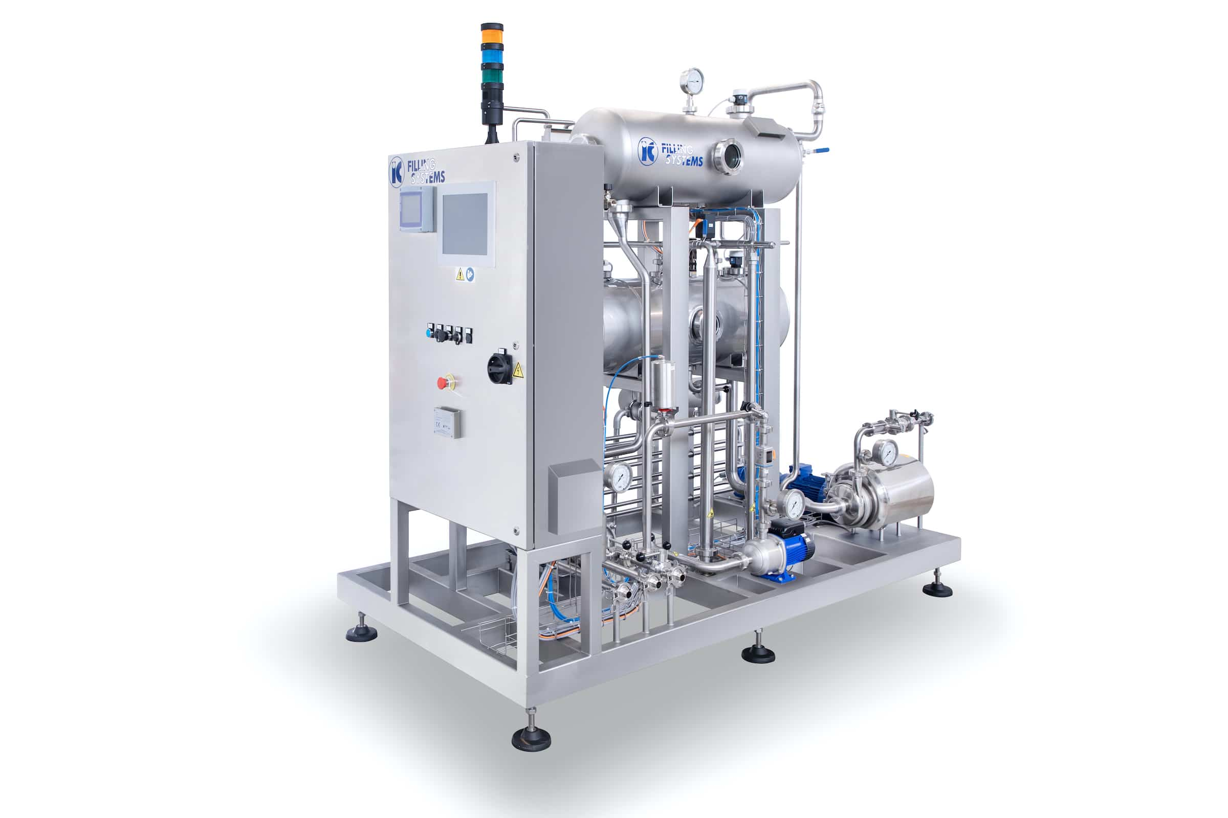 De-Aerator Carbonator 1000 lph with Automatic Flowmeter and CO2 Analyser